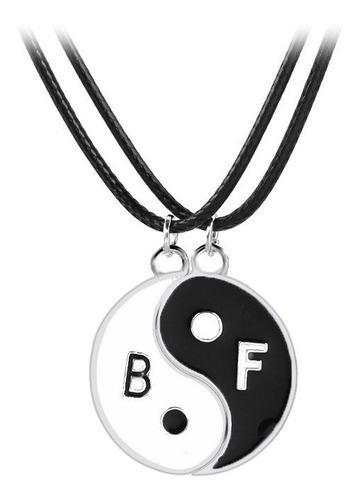 Yin Yang Best Friends Con Iman Regalo Pareja Compartir Bff