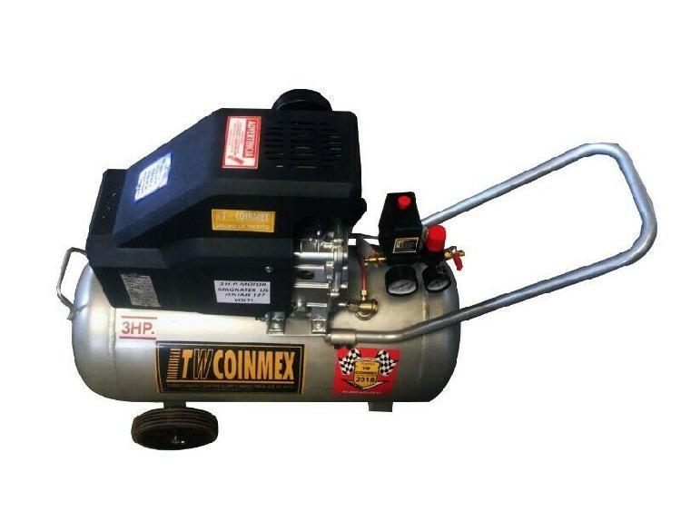 Compresor de aire para pintar 3hp 50 litros con llantas