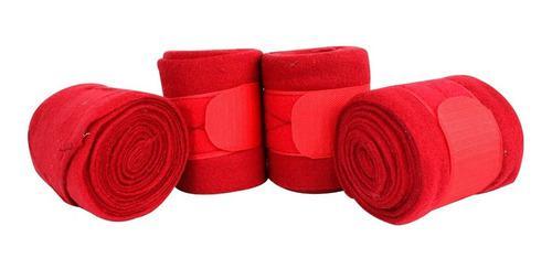 Vendas Fina Para Caballo 4 Piezas Color Rojo