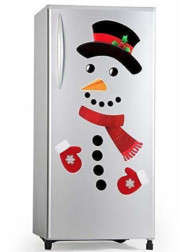 D-fantix Snowman Refrigerador Imanes Conjunto De 16, Lindo R