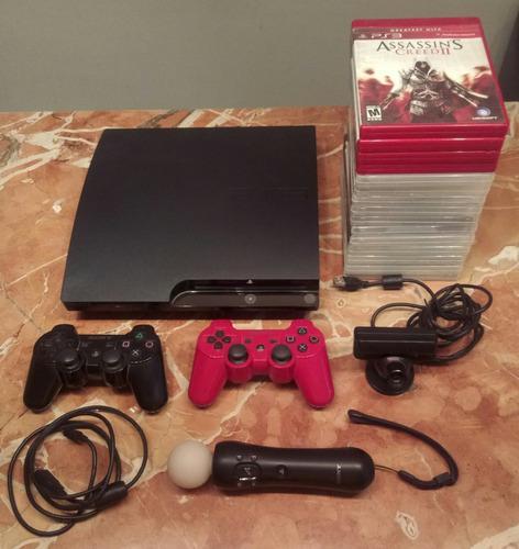 Playstation 3 Slim / Ps Move / 320 Gb / 15 Juegos