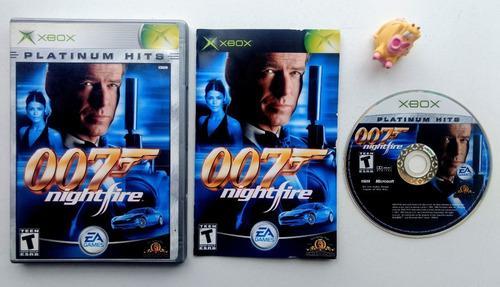 007 Nightfire Xbox Clásico * Mundo Abierto Vg *