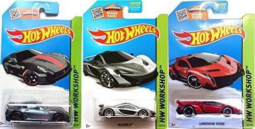 2015 Hot Wheels Hw Taller Lote De 3 Ferrari 599xx, Mclaren