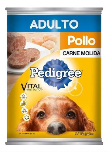 Alimento Para Perro Pedigree Adulto Molida Pollo Lata 625 Gr