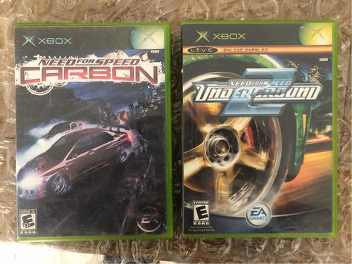 Carbon Y Nfs Midnight Club2para Xbox Clasic Excelente Estado