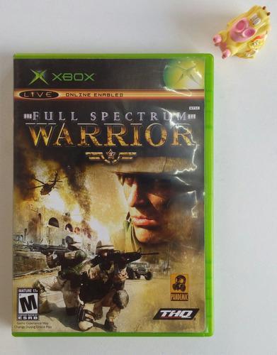 Full Spectrum Warrior Xbox Clásico * Mundo Abierto Vg *