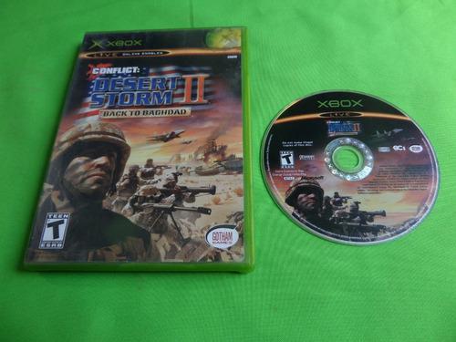 Juego Original Desert Storm Ii Back To Bagdad Xbox Clasico