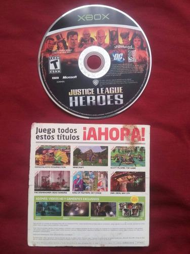 Liga De La Justicia Héroes Para Xbox Clásico