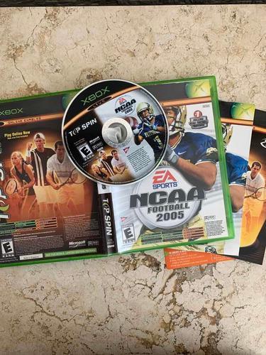 Ncaa Football 2005 & Top Spin Xbox Clásico Completo