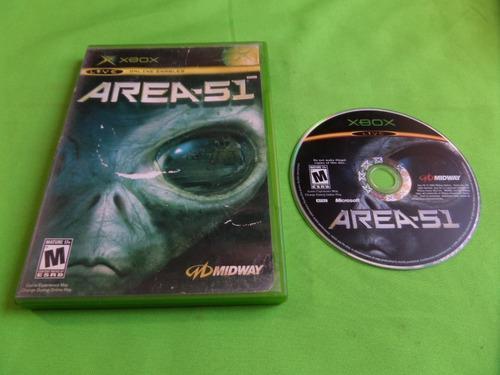 Video Juego Original Area 51 Xbox Clasico
