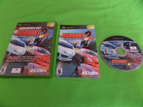 Video Juego Original Burnout 2 Xbox Clasico Completo
