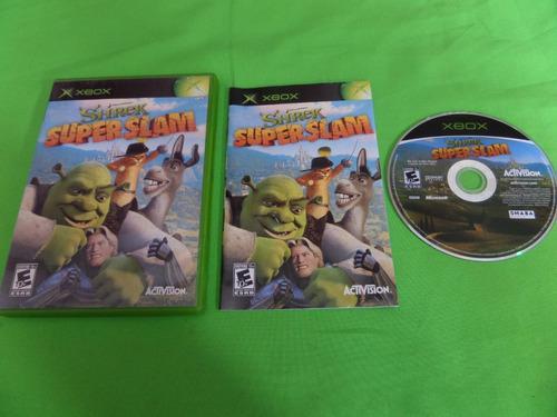 Video Juego Original Shrek Super Slam Xbox Clasico Completo