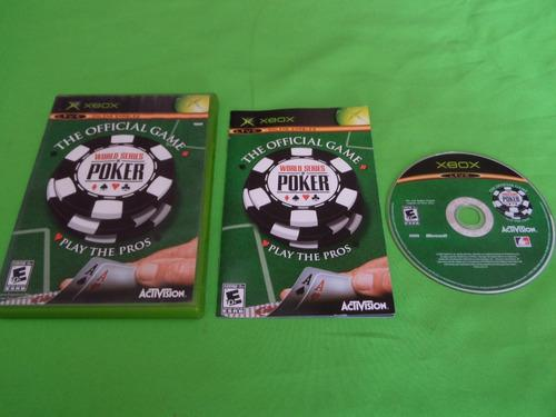 Video Juego Original World Series Of Poker Xbox Clasico