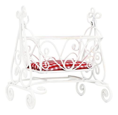 1:12 Mini Accesorio De Dormitorio De Bebé Modelo De Cuna