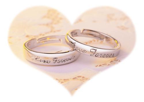2 Anillos Promesa Plata 925 Amor Parejas Enamora 14 Febrero