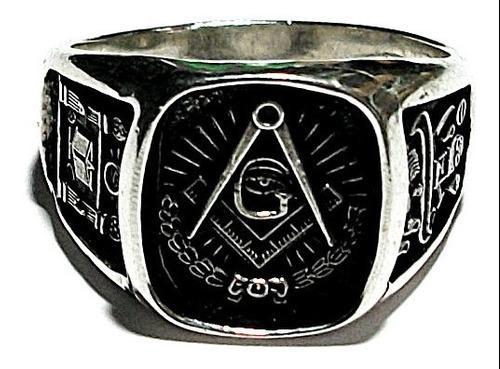 Anillo Masonico En Plata Fina Ley.925