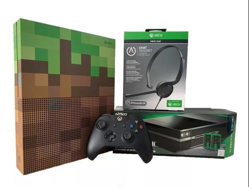 Consola Xbox One S Minecraft 1 Tb + Diadema + Base De Carga