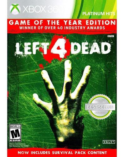 Left 4 Dead Edicion Juego Del Año Xbox 360/one (d3 Gamers)