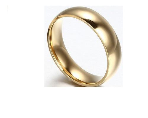 Par De Argollas Matrimonio Doradas De Acero Inoxidable