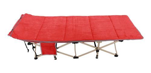 Catre Camastro Camping Plegable Con Funda Colcha Delux