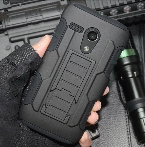 Funda Moto G 1era Gen De Motorola Clip Uso Rudo Resistente