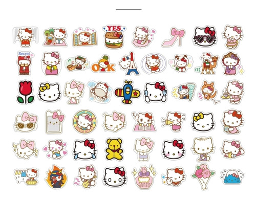 Hello Kitty  Calcomanias Stickers Pvc Contra Agua