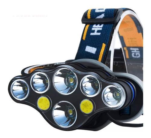 Lampara Minera 6 Luz Led Cob Patrulla Recargable Ajustable