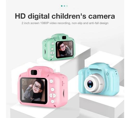 Mini Cámara Digital Recargable Para Niños Pantalla De 2