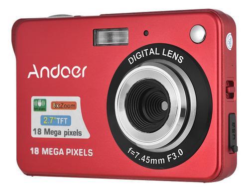 Andoer 18m 720p Hd Cámara Digital Videocámara Con 2pcs