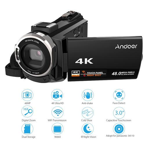 Andoer 4k 1080p 48mp Wifi Cmara De Video Digital