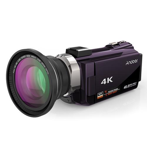 Andoer 4k 1080p 48mp Wifi Cámara De Video Digital Grabadora