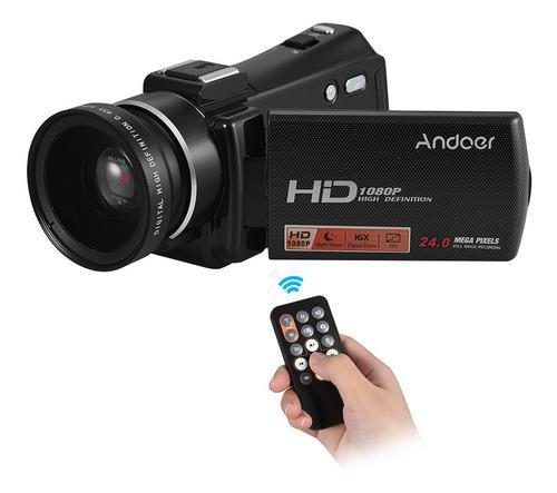 Andoer Hdv-v7 Plus 1080 P Full Hd 24mp Videocámara Digital