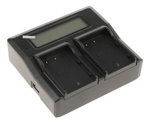 Cargador De Batería Dual Para Videocámaras Digitales Carga
