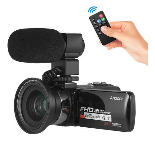 Cámara De Vídeo Digital Andoer Fhd 1080p Camecorder
