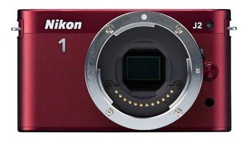Cámara Digital Nikon 1 J2 10 1 Mp Hd Solo Cuerpo Rojo