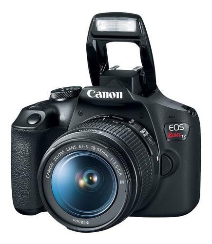 Cámara Reflex Canon Eos Rebel T7 Con Lente 18 55 24mp Wifi