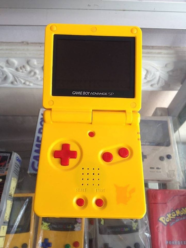 Gameboy Advance Sp Ags 101 Edicion Pikachu Pokemon Gba