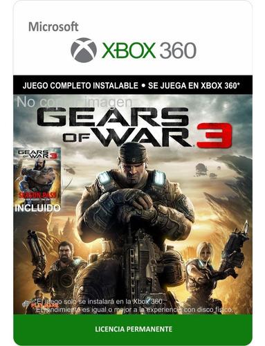 Gears Of War 3 Xbox 360 -- Español Latino -- Envío Gratis
