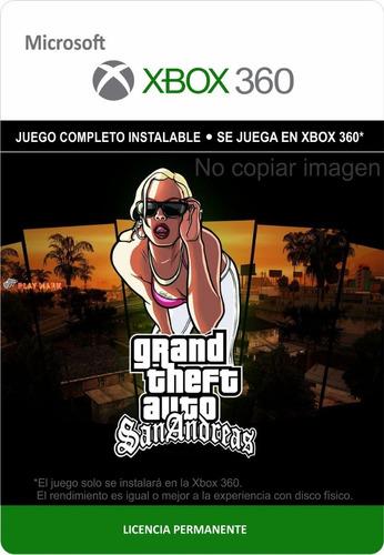 Grand Theft Auto San Andreas Hd Xbox 360 - Envío Gratis