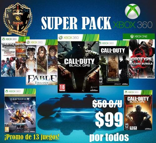 Paquete 13 Juegos Xbox 360 Super Pack Online Originales