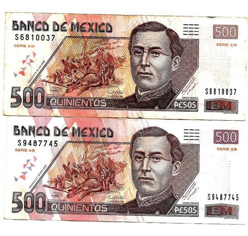 Billete De 500 Pesos Ignacio Zaragoza Precio Por Uno