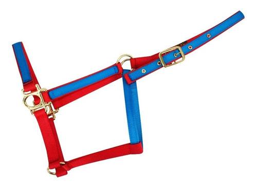 Almartigon Para Caballo Americano Bicolor Azul/rojo