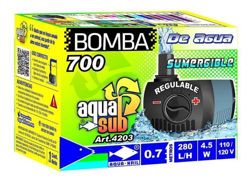 Bomba De Agua Mini Sumergible 70 Cm Fuente Acuario 4203