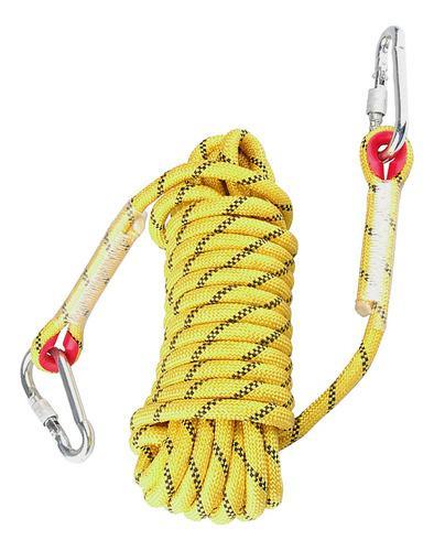Escalada Al Aire Libre De La Cuerda Estática De Escalada De