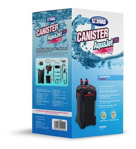 Filtro Canister Aquajet 200 Litros Acuario Peces