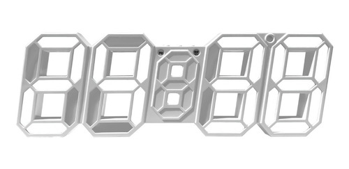 Reloj Digital Pared Buro Números Led Blanco Termometro Usb