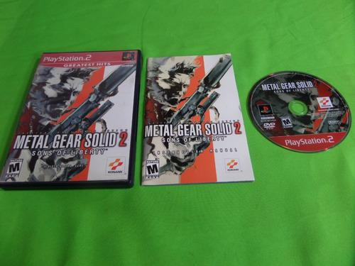 Video Juego Original Metal Gear Solid 2 Sons Of Liberty Ps2