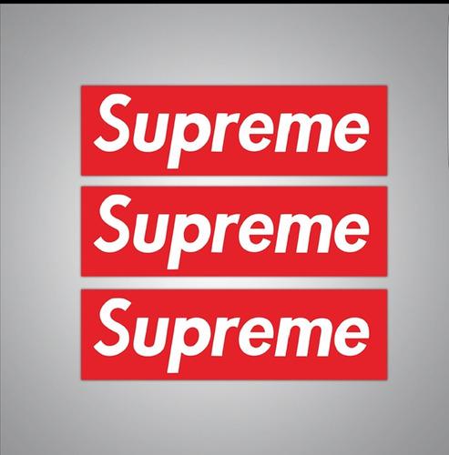 Supreme 19 Cm X 5 Cm, 50 Calcomanias Stickers Pvc Anti Agua
