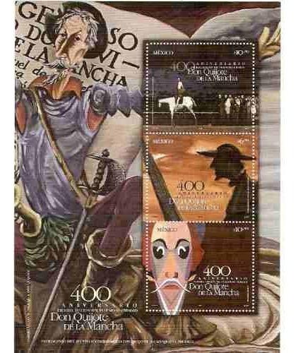 México Don Quijote D La Mancha Hoj Souvenir Sc