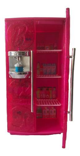 Refrigerador Y Mesa De Juguete Para Barbie